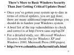 there s more to basic windows security than just getting critical updates done