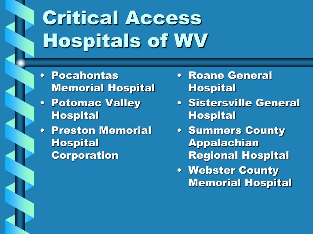 critical access hospitals Request pdf on researchgate | nurse staffing in critical access hospitals structural factors linked to quality care | evidence links the amount of registered nurse care to improved patient outcomes in large hospitals, but little is known about registered nurse staffing in small critical access hospitals, which comprise 30% of all us hospitals.