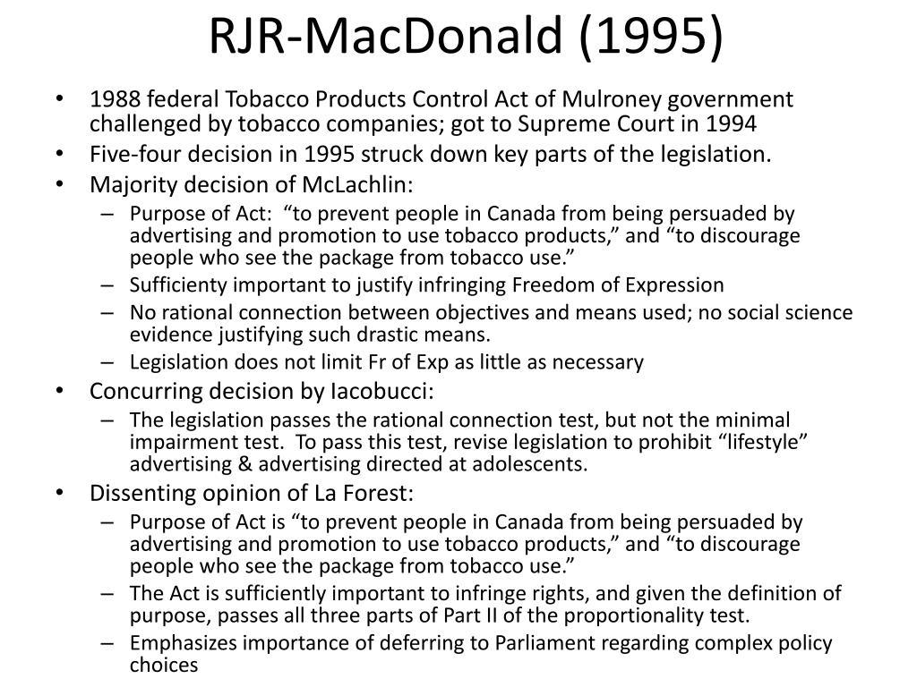 RJR-MacDonald (1995)