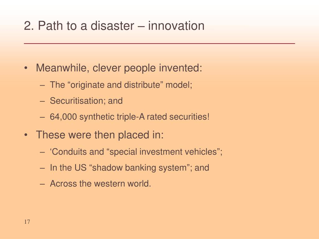 2. Path to a disaster – innovation