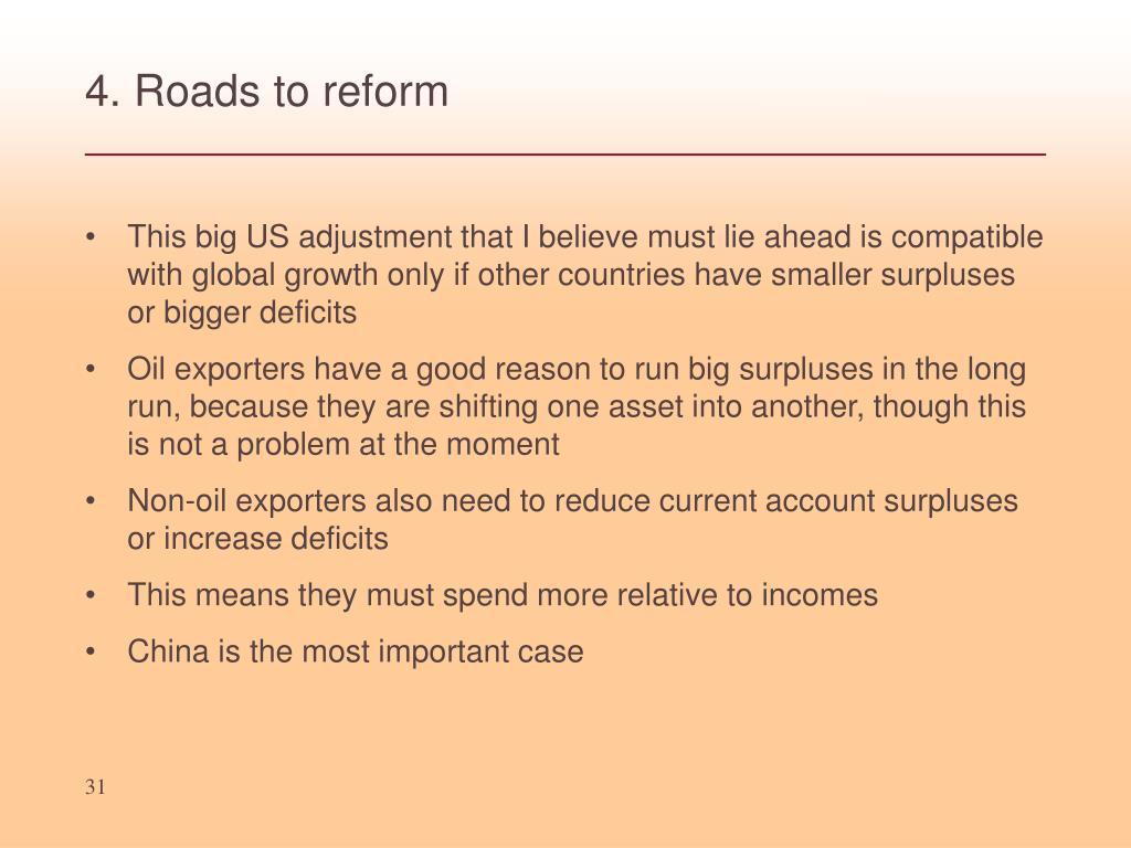 4. Roads to reform