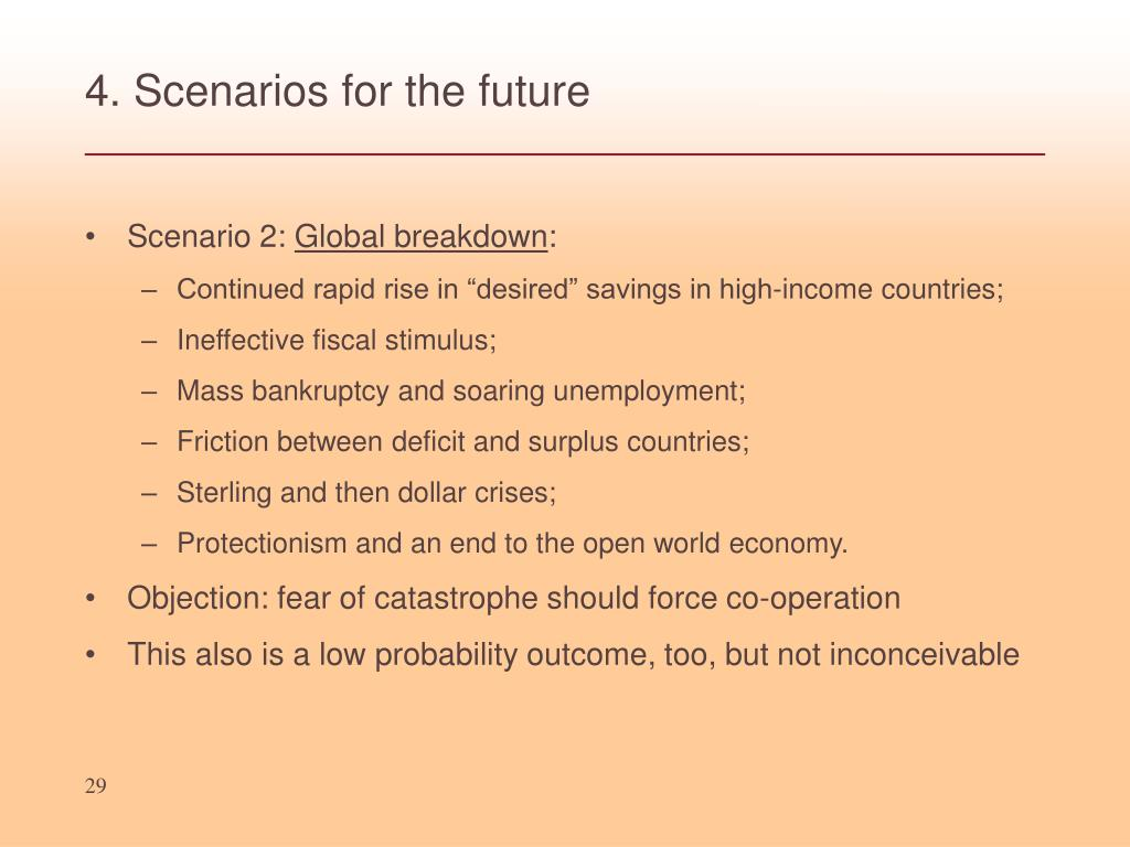 4. Scenarios for the future