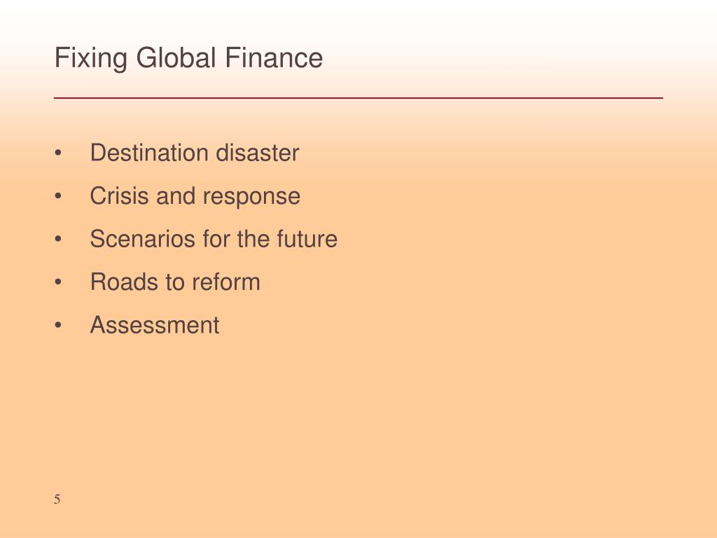 Fixing Global Finance