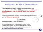 processing of the gps ro observations 2