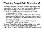 what are causal path biomarkers