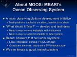 about moos mbari s ocean observing system