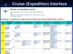 cruise expedition interface