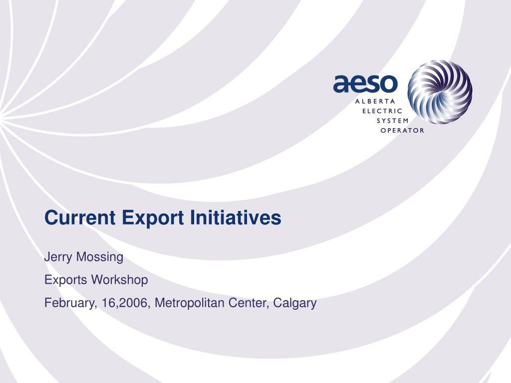current export initiatives