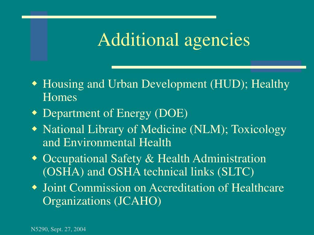 Additional agencies
