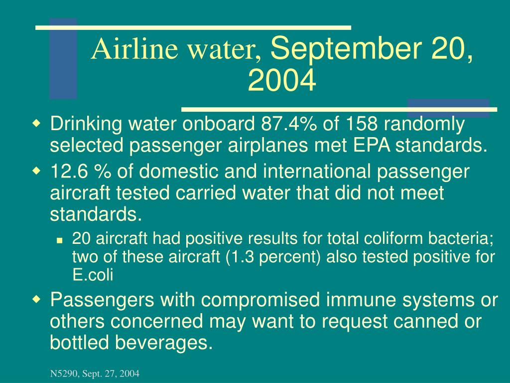 Airline water,