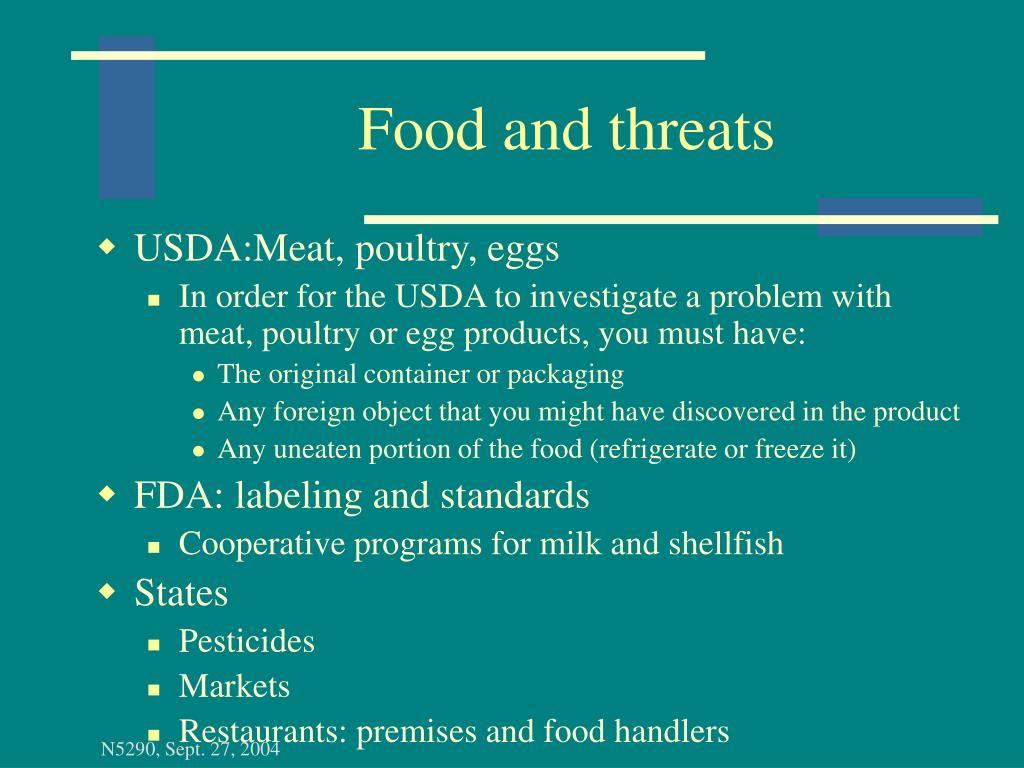 Food and threats