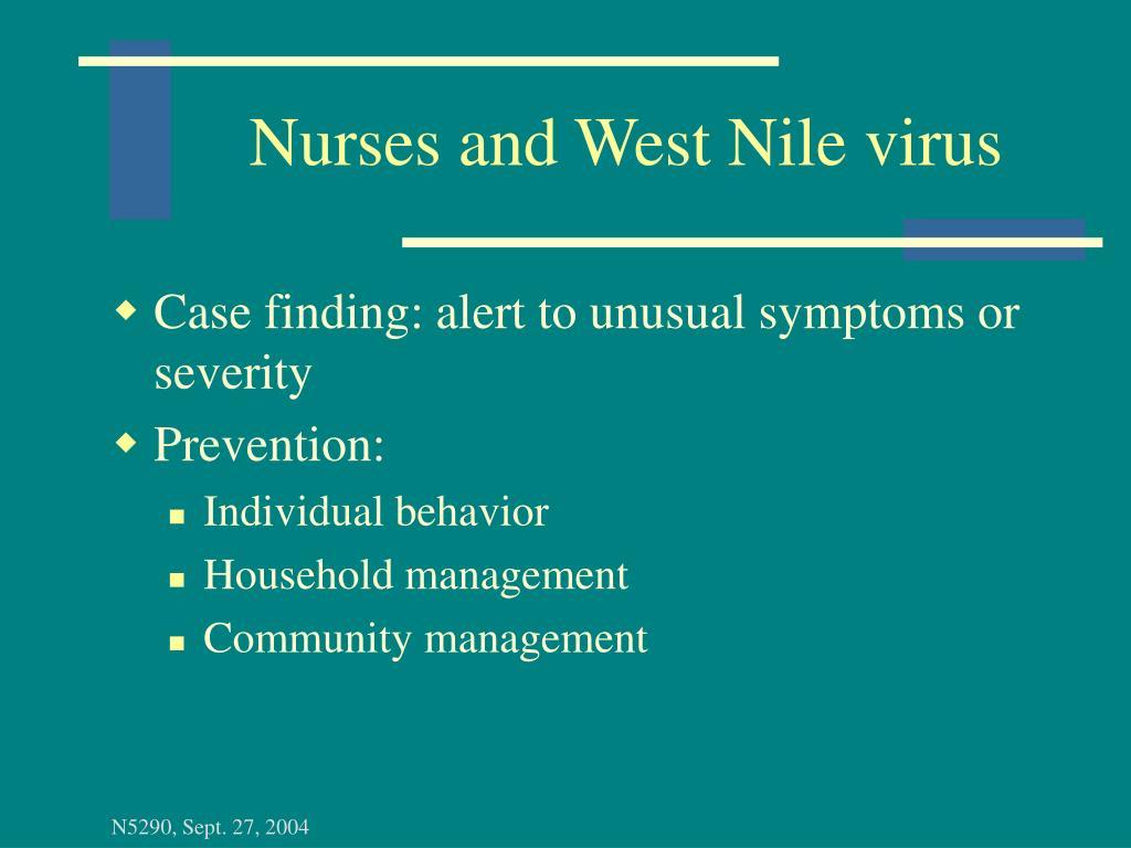Nurses and West Nile virus