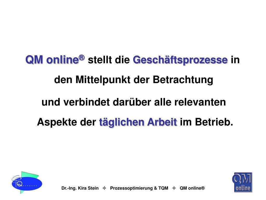 QM online