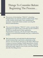 things to consider before beginning the process