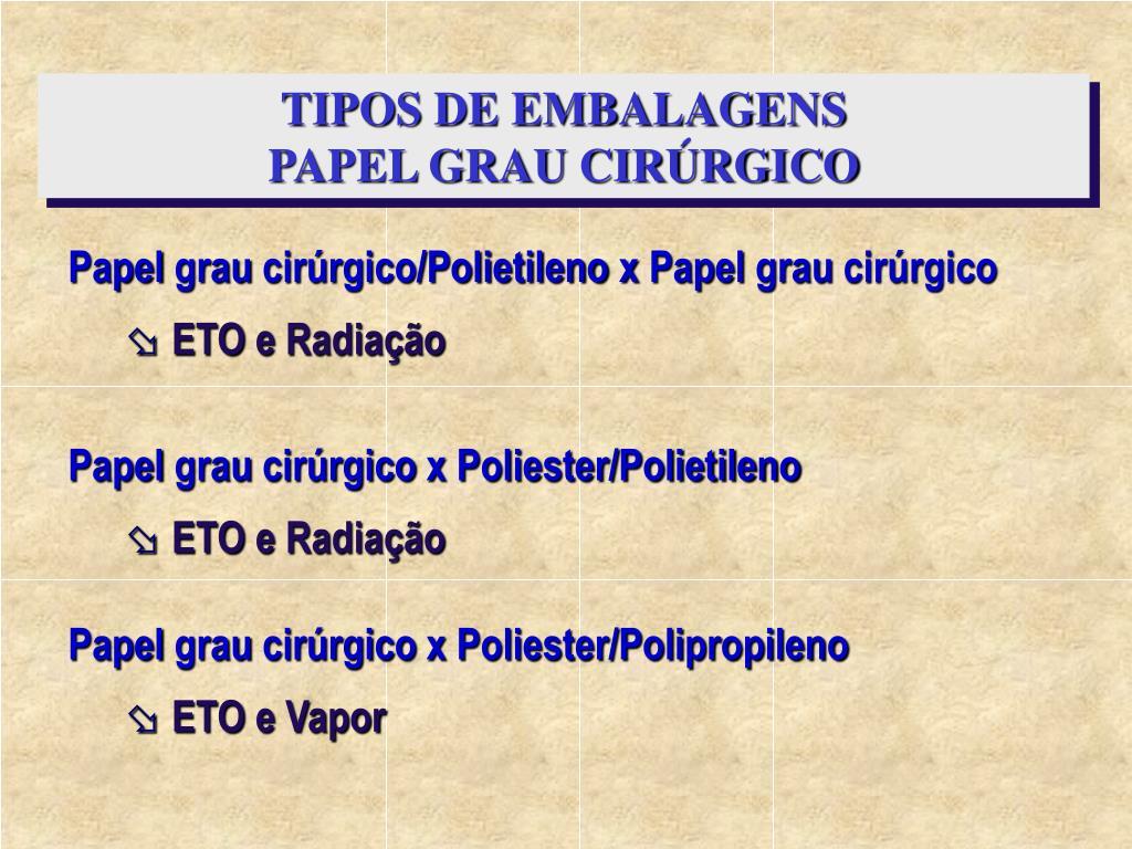 TIPOS DE EMBALAGENS