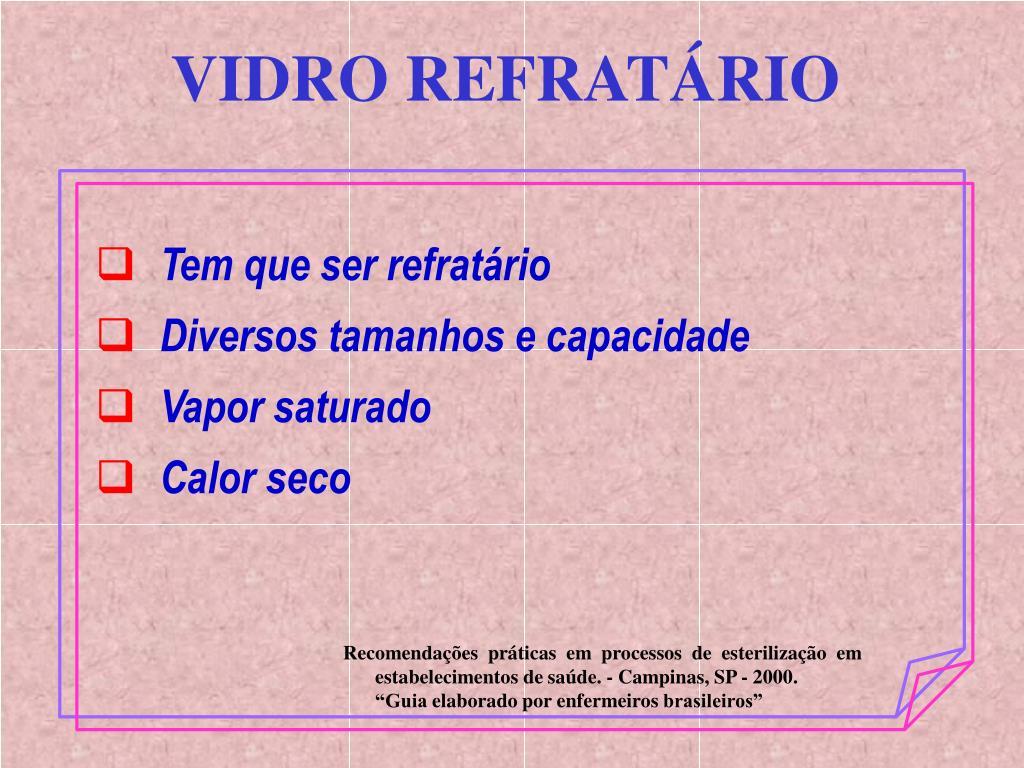 VIDRO REFRATÁRIO