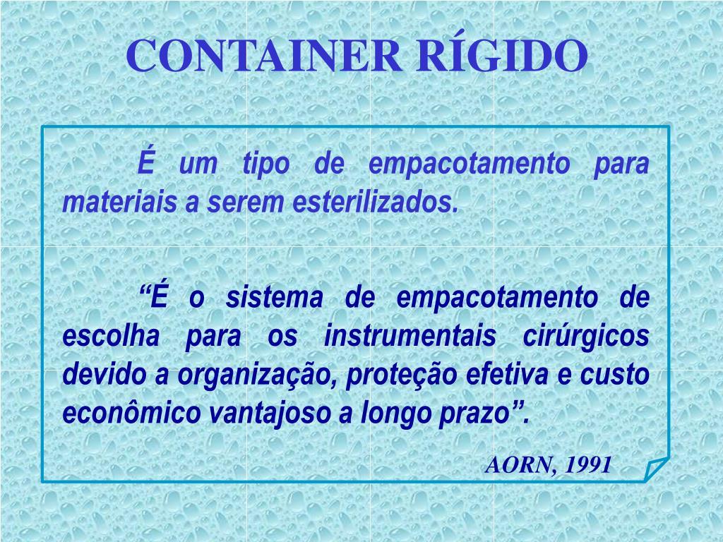 CONTAINER RÍGIDO