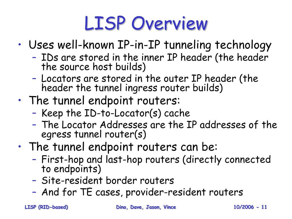 LISP Overview