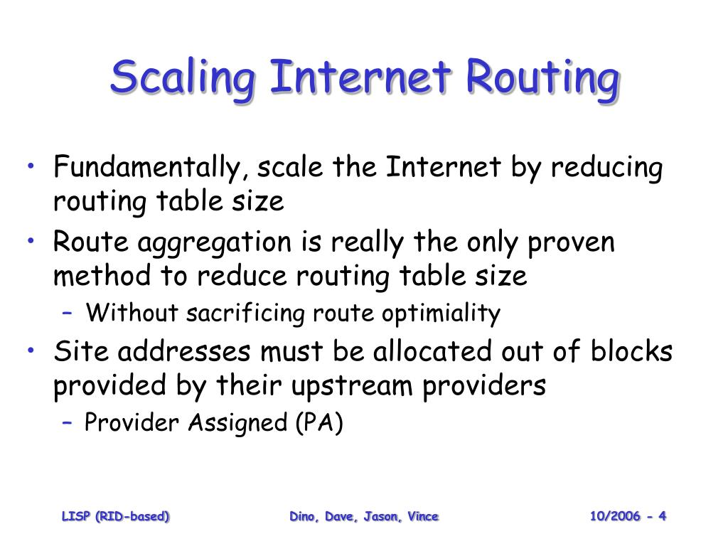 Scaling Internet Routing