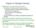 impact on georgia industry