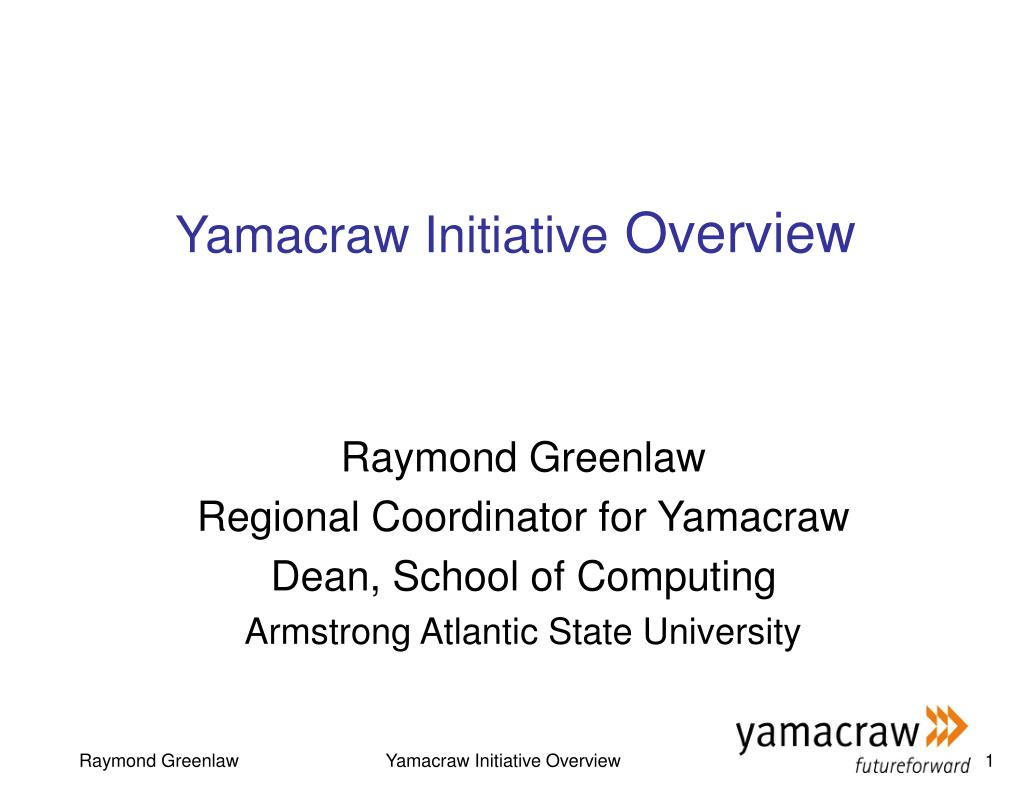 yamacraw initiative overview