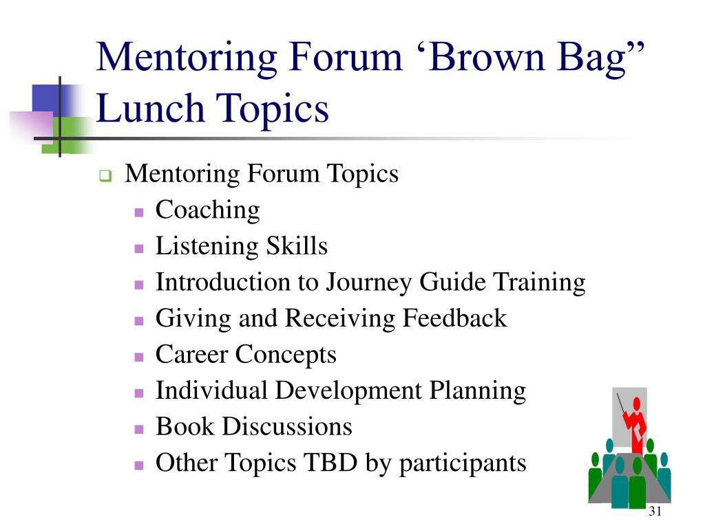 "Mentoring Forum 'Brown Bag"" Lunch Topics"