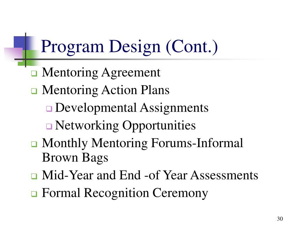 Program Design (Cont.)