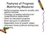 features of progress monitoring measures