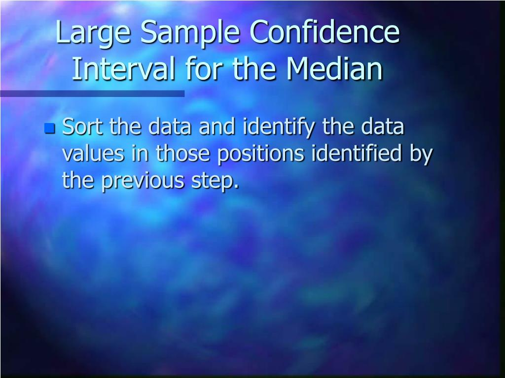 Large Sample Confidence Interval for the Median