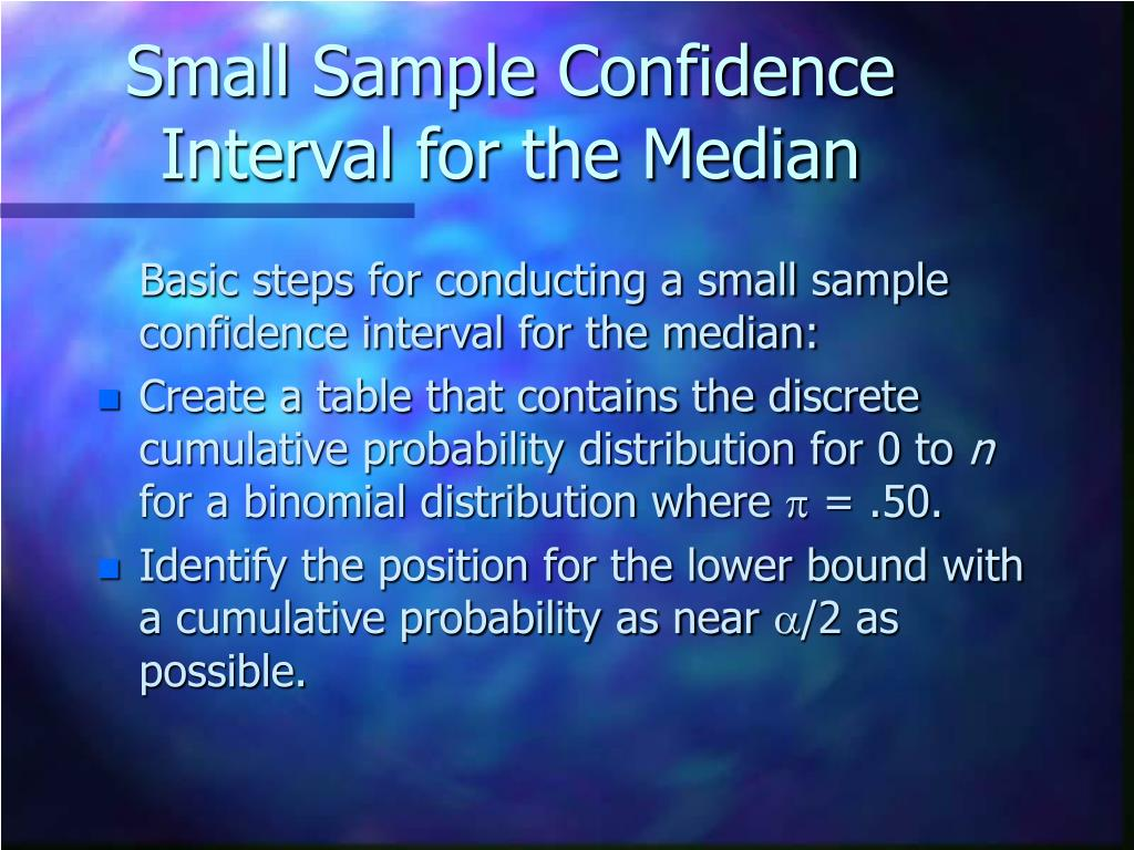 Small Sample Confidence Interval for the Median