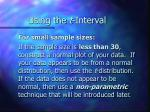 using the t interval