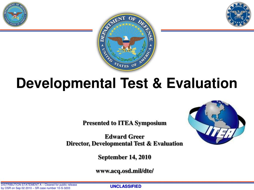 Developmental Test & Evaluation