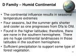 d family humid continental
