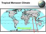 tropical monsoon climate