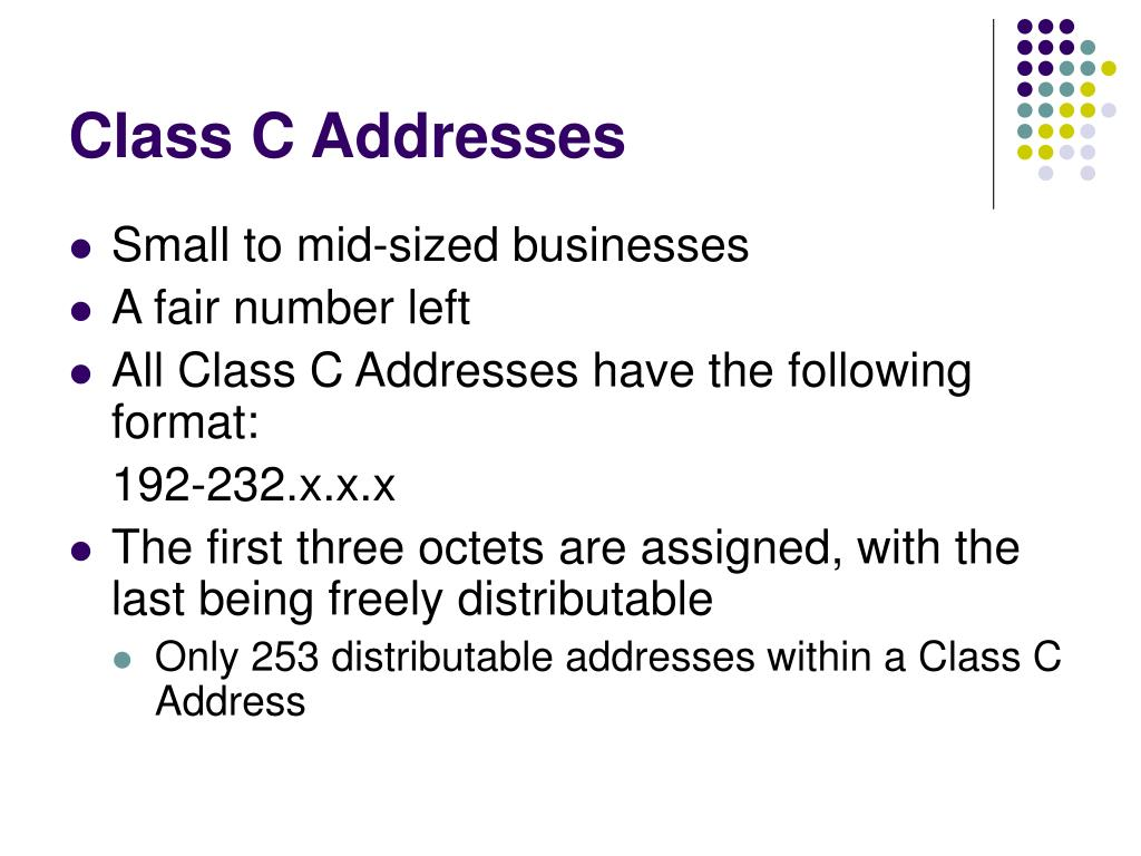 Class C Addresses