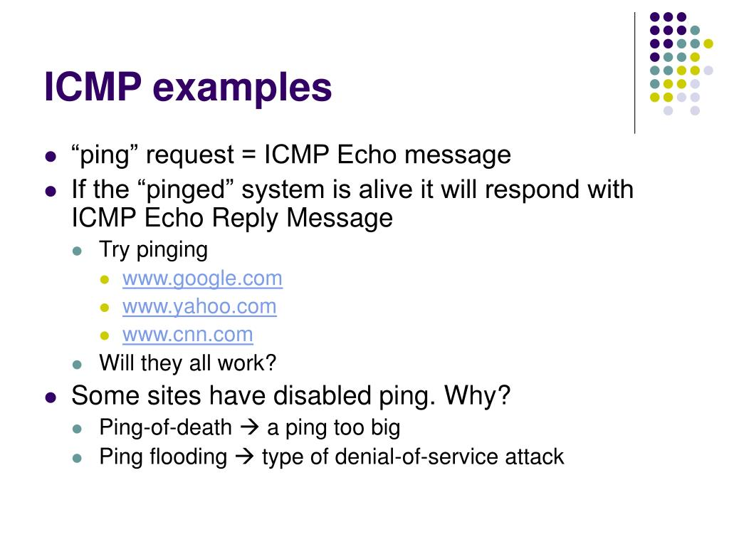 ICMP examples