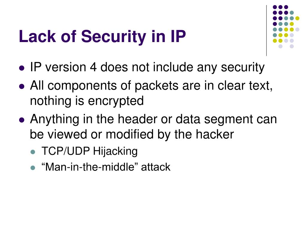 Lack of Security in IP