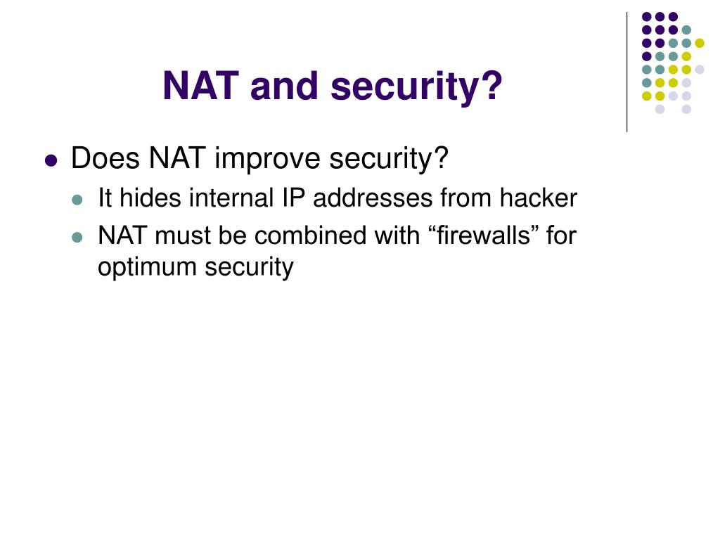 NAT and security?