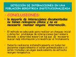 detecci n de interacciones en una poblaci n geri trica institucionalizada18