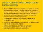 interacciones medicamentosas introducci n