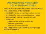 mecanismo de producci n de las interacciones