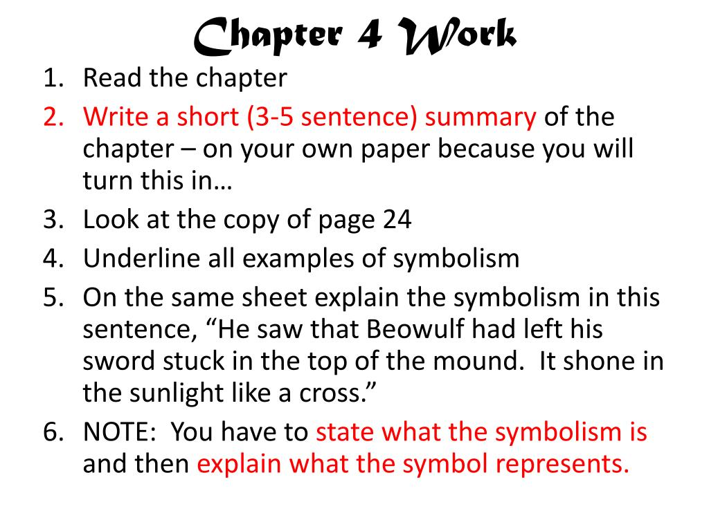 Chapter 4 Work