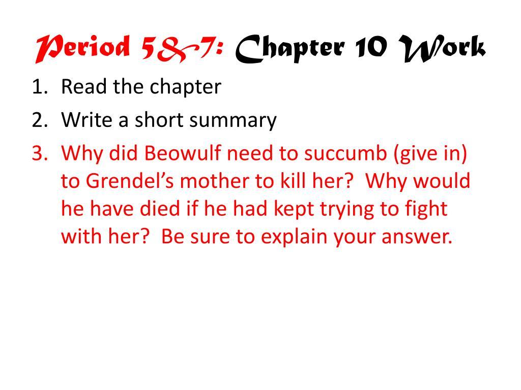 Period 5&7: