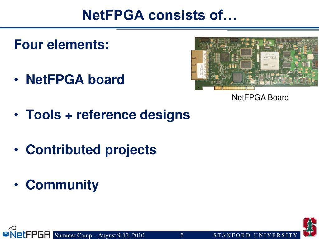 NetFPGA consists of…