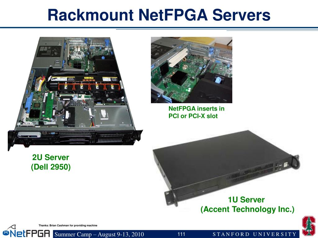 Rackmount NetFPGA Servers