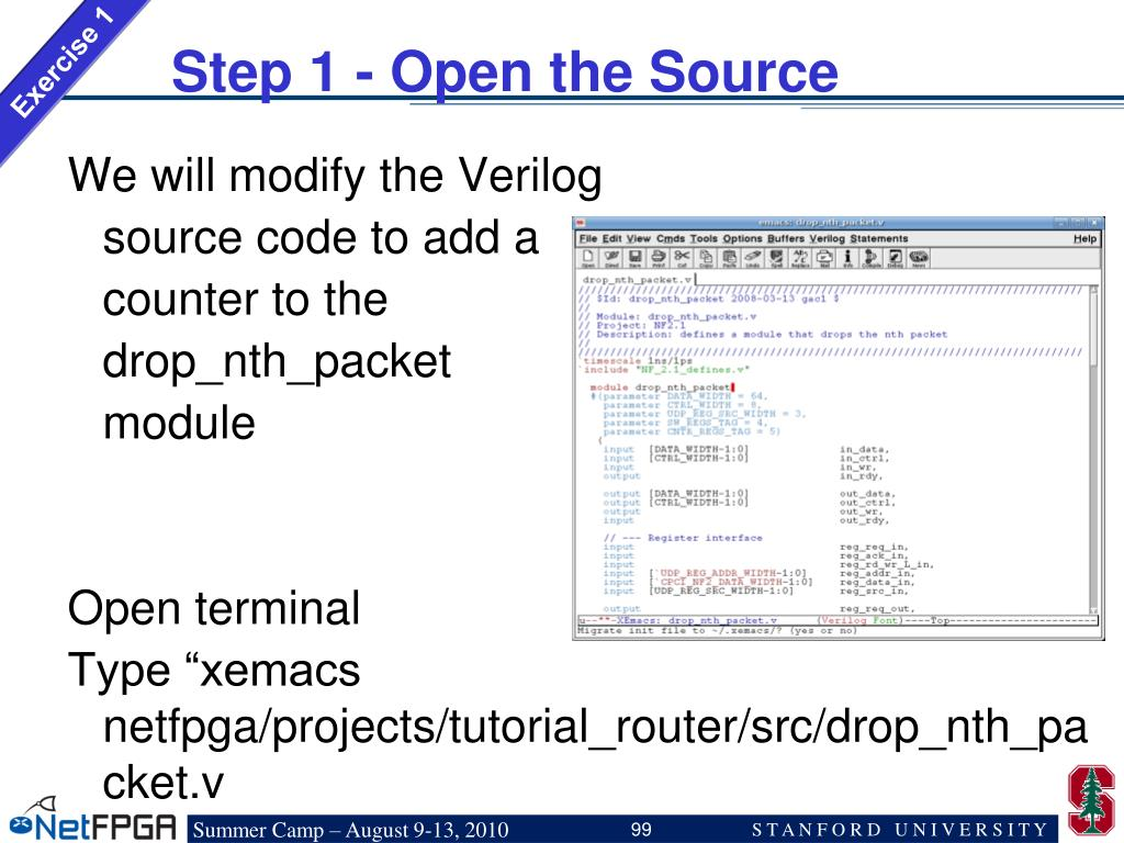 Step 1 - Open the Source