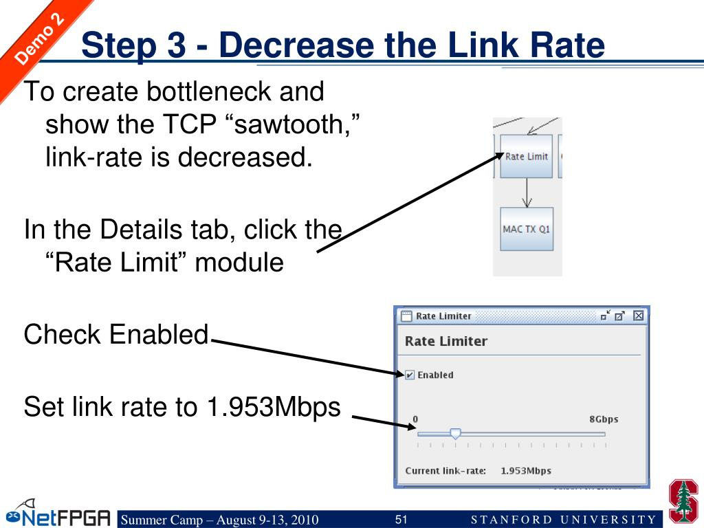 Step 3 - Decrease the Link Rate