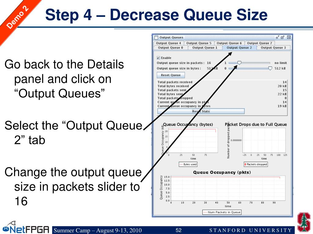 Step 4 – Decrease Queue Size