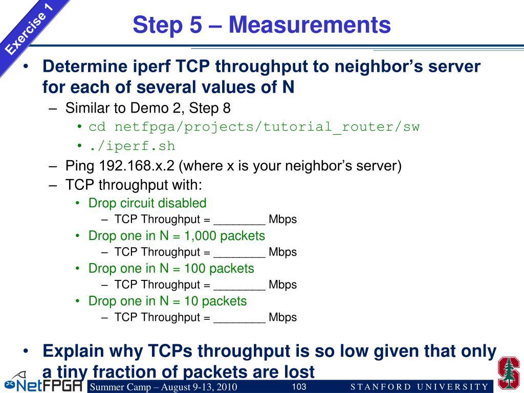 Step 5 – Measurements