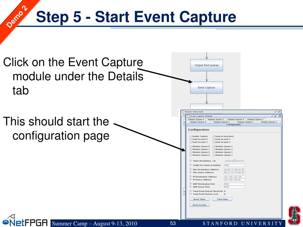 Step 5 - Start Event Capture